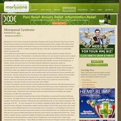 Medical Marijuana Menopausal Syndrome Treatments
