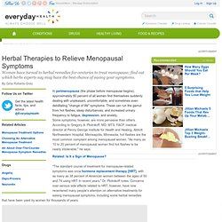 Menopause Herbal Therapies - Menopause Center