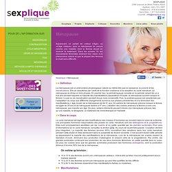 Ménopause - Sexplique