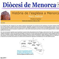 Bisbat de Menorca - Història de l'Església de Menorca