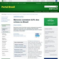 Menores cometem 0,9% dos crimes no Brasil