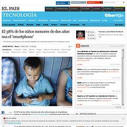 El 38% de los niños menores de 2 años usa el 'smartphone'
