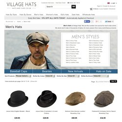 Mens Hats - Buy Hats for Men online at Village Hats.