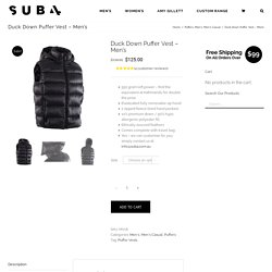 Best Mens Puffer Vest Available On Sub4.com