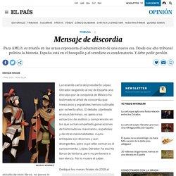 México: Mensaje de discordia