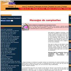 MENSAJES DE CUMPLEAñOS|FELICITACIONES DE CUMPLEAñOS|MENSAJES DE CUMPLE|MJS FRASES DE CUMPLEAñOS