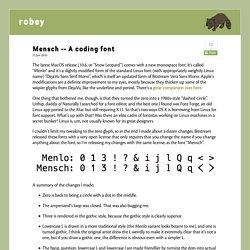 A coding font