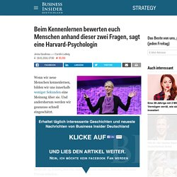 Menschen bewerten euch anhand dieser zwei Fragen - Business Insider Deutschland