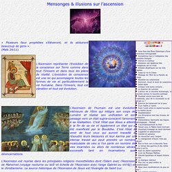 Mensonges & illusions sur l'ascension