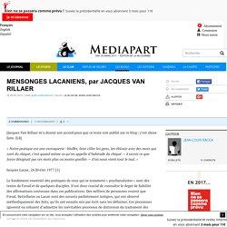 MENSONGES LACANIENS, par JACQUES VAN RILLAER