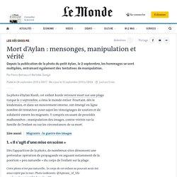 Mort d'Aylan: mensonges, manipulation et vérité