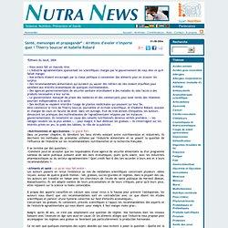 """""""Arrêtons de manger n'importe quoi"""" - Nutra News"""