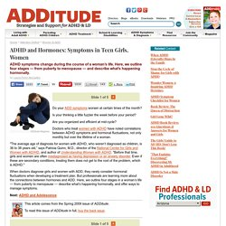 Women and ADHD: Hormones, Puberty, Menopause, Menstration, Period
