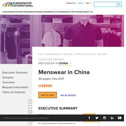 Menswear in China