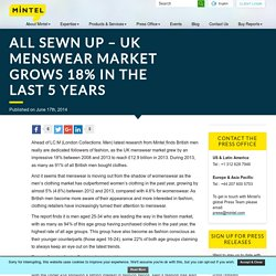 All sewn up - UK menswear market grows 18% in the last 5 years