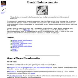 Mental Enhancements