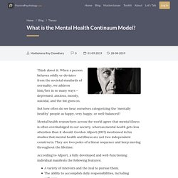 What is the Mental Health Continuum Model?