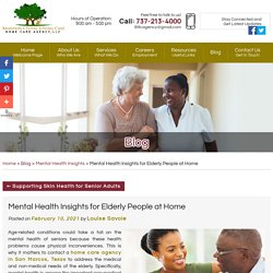 Mental Health Insights for Elderly People at Home