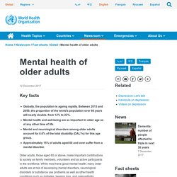 Mental health of older adults