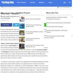 Mental Health & Stigma