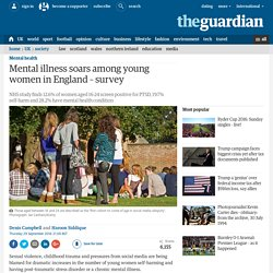 Mental illness soars among young women in England – survey