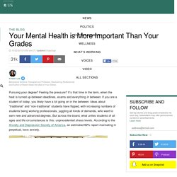 Your Mental Health is More Important Than Your Grades