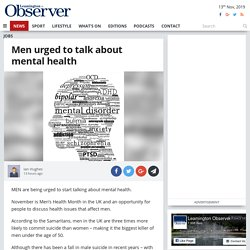 Men urged to talk about mental health