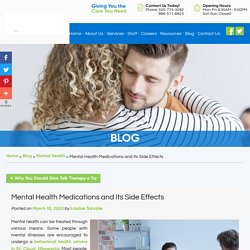 Mental Health Medications and Its Side Effects