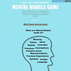 Mental Models Game