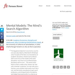 Mental Models: The Mind's Search Algorithm - Farnam Street