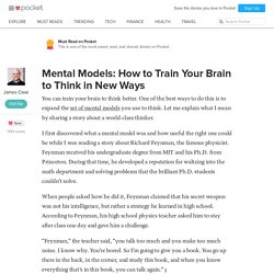 Mental Models: How to Train Your Brain to Think in New Ways - James Clear - Pocket