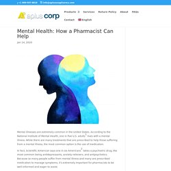 Mental Health: How a Pharmacist Can Help