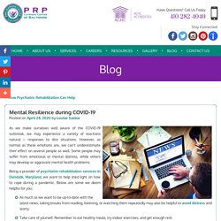 Mental Resilience during COVID-19