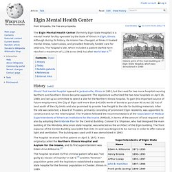 Elgin Mental Health Center - David_Hyrum_Smith