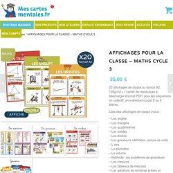 Affichages Maths pour la classe - cycle 3