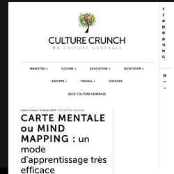 CARTE MENTALE ou MIND MAPPING : un mode d'apprentissage très efficace