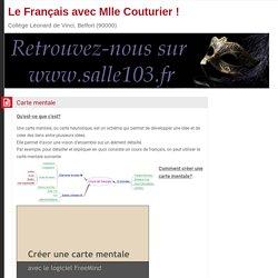 Le Français avec Mlle Couturier !: Carte mentale