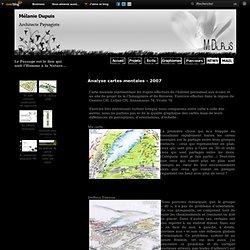 Analyse cartes mentales - 2007 - Book de Mélanie Dupuis - Architecte Paysagiste HES