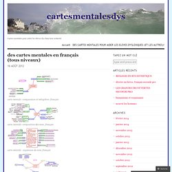 des cartes mentales en français (tous niveaux)