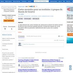 Cartes mentales pour un territoire: à propos du Bassin de Genève - Open Access Library