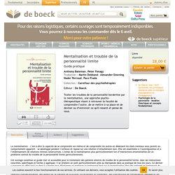 livre: Mentalisation et TPL