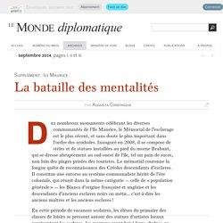 La bataille des mentalités, par Augusta Conchiglia (Le Monde diplomatique, septembre 2014)