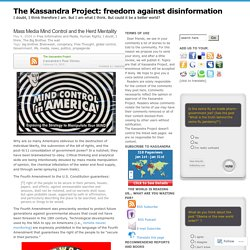 The Kassandra Project: freedom against disinformation