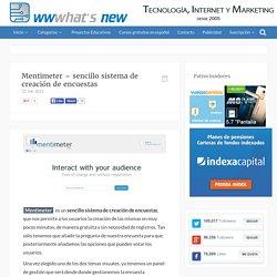 Mentimeter – sencillo sistema de creación de encuestas