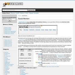 Social Mention : moteur de recherche social en temps réel Métamoteur
