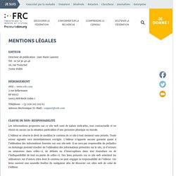 Mentions légales - Fédération pour la Recherche sur le Cerveau (FRC)