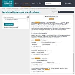 Mentions Légales pour un Site Internet - Téléchargez un Exemple Type