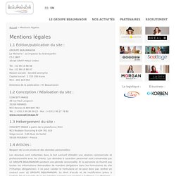 Mentions légales - Accueil