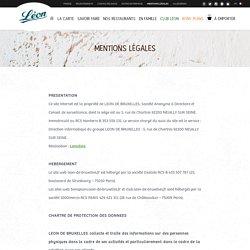 Mentions légales - Léon de Bruxelles