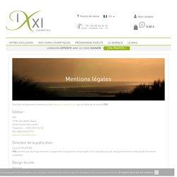 Mentions légales ixxi-cosmetics.com